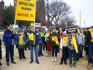 Young people from Butler County during the March for Life