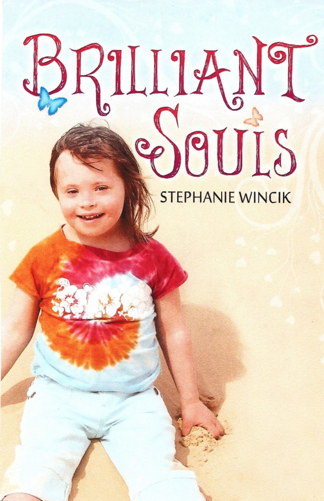"Chloe Kondrich is featured on the cover of the book ""Brilliant Souls."""