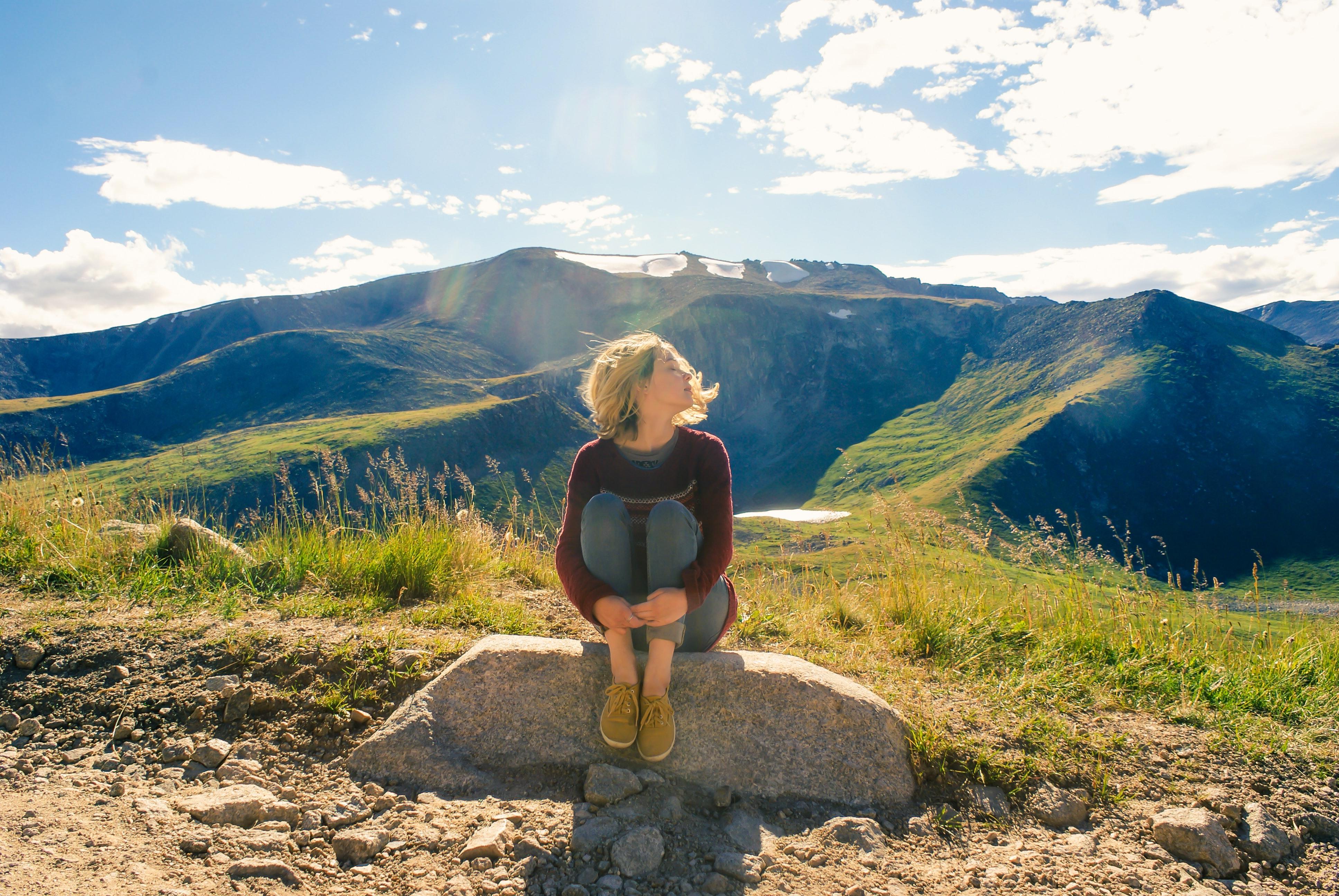 Woman in wilderness